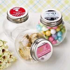 Personalized Birthday Design Candy Glass Jar Favors image