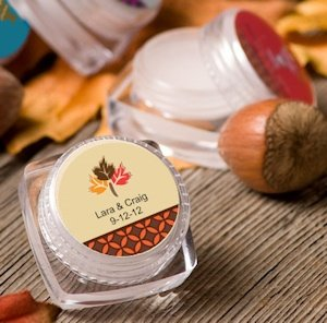 Autumn Personalized Lip Balm Favors image