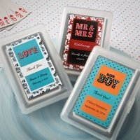 Personalized Marquee Design Playing Card Favors