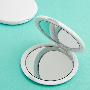 Blank Compact Mirrors - Perfectly Plain Collection image