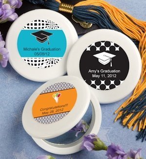 Graduation Personalized Mirror Compact Favors image