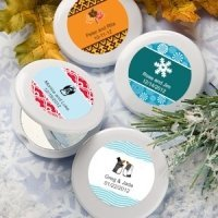 Seasonal Personalized Mirror Compact Favors