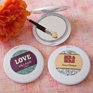 Personalized Marquee Design Compact Mirror Favors image