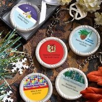 Holiday Party Personalized Key Ring Favors