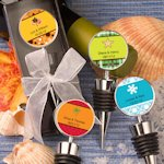 Personalized Seasonal Design Wine Bottle Stopper Favors