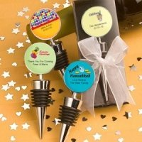 Personalized Holiday Wine Bottle Stopper Favors