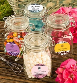 Personalized Apothecary Jar Wedding Favors image