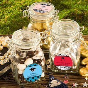 Personalized Anniversary Apothecary Jar Favors image