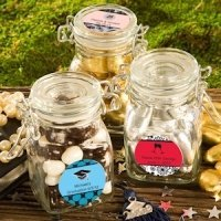 Personalized Anniversary Apothecary Jar Favors