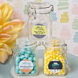 Personalized Birthday Design Apothecary Jar Favors image