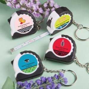 Key Chain and Measuring Tape Favors - Sweet 16 image