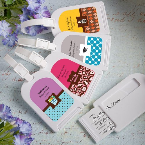 Personalised Luggage Tags Wedding Gift : Sweet Celebrations Personalized Luggage Tags