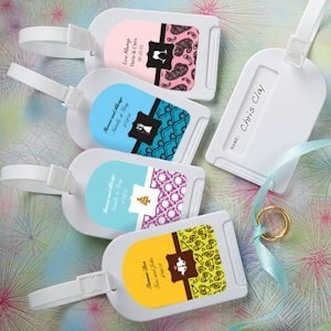 Personalized Luggage Tags Wedding Favors image