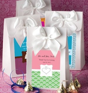 White Gift Box with Personalized Label and Bow image