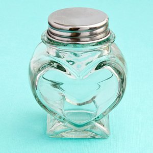 Perfectly Plain Collection Heart Shaped Glass Jars image