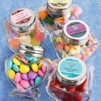 Personalized Sweet Celebrations Heart Shaped Jars