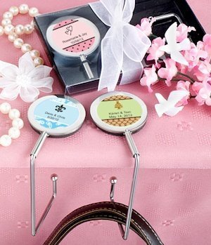 Personalized Purse Hook Wedding Favors image