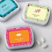 Personalized Wedding Favor Mint Tins (Many Designs)