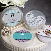 Heart Shaped Wedding Playing Cards in Personalized Case
