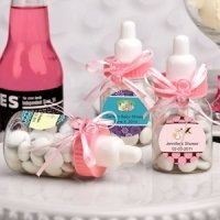 Design Your Own Collection Pink Baby Bottle Favors