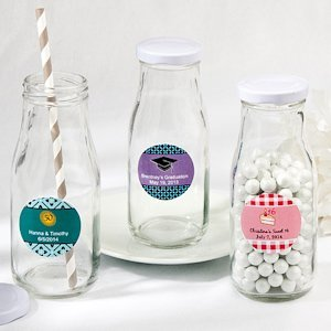 Vintage Style Milk Bottle Favors for Any Occasion image