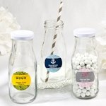 Vintage Style Milk Bottle Wedding Favors