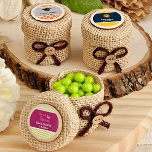 Design Your Own Burlap Favor Boxes image