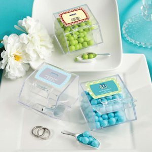 Personalized Holiday Candy Bin & Scoop Favors image