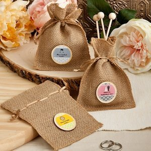 Design Your Own Burlap Party Favor Bags image
