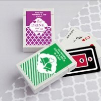 Simply Stylish Personalized Playing Cards