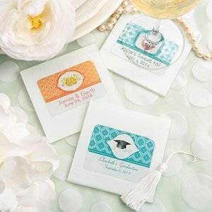 Personalized White Glass Coaster Party Favors image