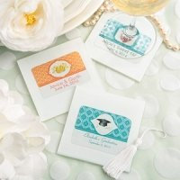 Personalized White Glass Coaster Party Favors