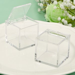 Perfectly Plain Acrylic Cube Favor Box image