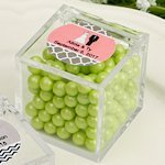Personalized Acrylic Cubic Wedding Favor Box