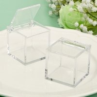 Perfectly Plain Acrylic Cube Favor Box