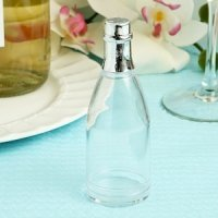 Clear Champagne Bottle Container