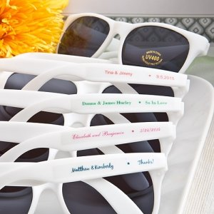 Personalized Wedding Favor Sunglasses image