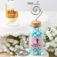Personalized Perfectly Plain Glass Jar Place Card Holder