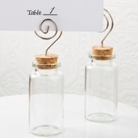 Perfectly Plain Glass Jar Place Card Holders