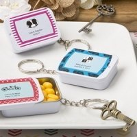 Personalized Expressions Mint Tin Key Ring Wedding Favors