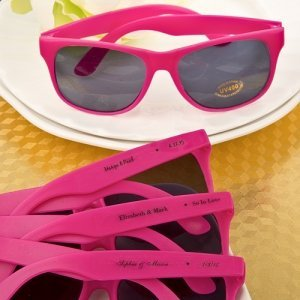 Hot Pink Personalized Sunglasses Favors image