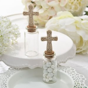 Perfectly Plain Candy Jar with Ivory Cross image