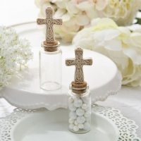 Perfectly Plain Candy Jar with Ivory Cross