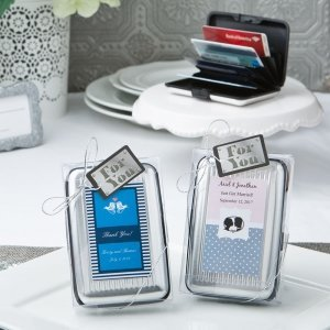 Personalized Aluminum Wallet Wedding Favor image