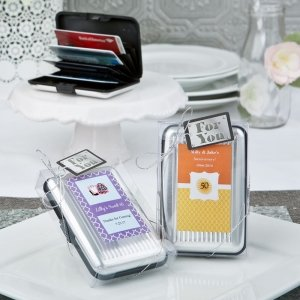 Personalized Special Occasion Aluminum Wallet Favor image
