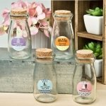 Personalized Wedding Vintage Glass Milk Bottle Favors