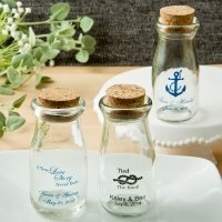 Design Your Own Personalized Vintage Milk Bottles with Round