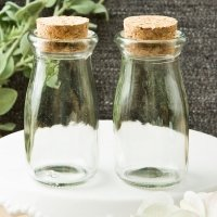 Perfectly Plain Collection Vintage Glass Milk Bottle