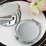 Perfectly Plain Collection Silver Metal Mirror Favors