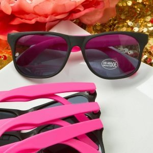 Perfectly Plain Collection Plastic Wayfarer Style Sunglasses image